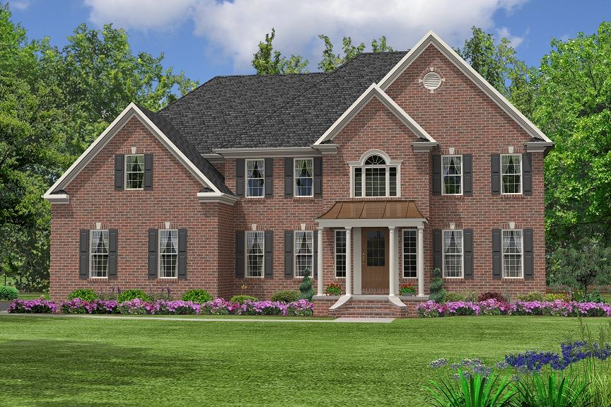 Colonial Front Elevations Colonial House Plan Tradional House Plan Two Story House Plan House Plans Bungalow House Plans Colonial House Plans