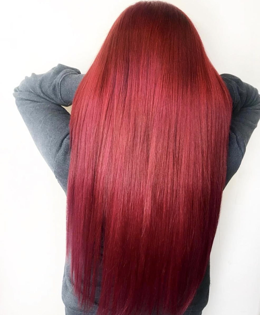 Cherry Wine 99j Glam Seamless Pastel And Bright Hair Extensions