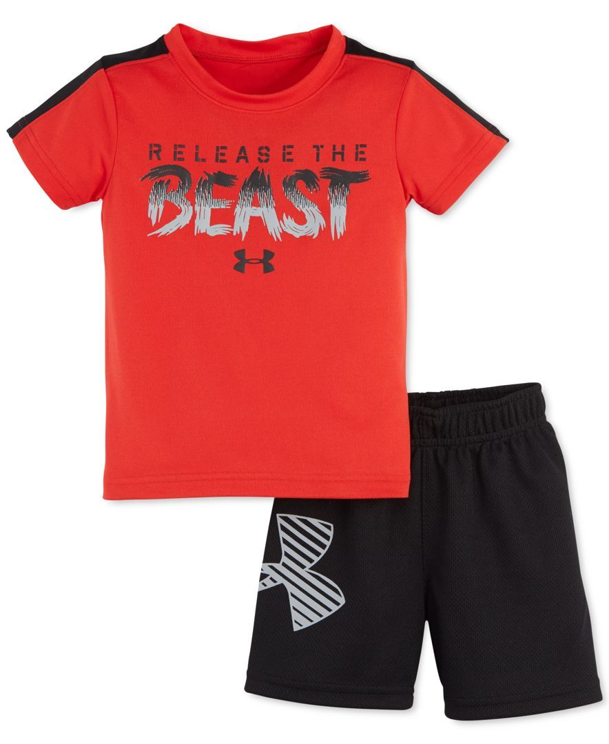 Under armour baby boys 39 2 piece release the beast t shirt for Beast mode shirt under armour