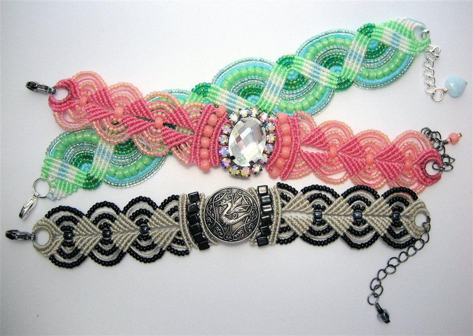 diy beaded necklaces bracelets and jewelry bracelets macrame bracelet patterns macrame et. Black Bedroom Furniture Sets. Home Design Ideas