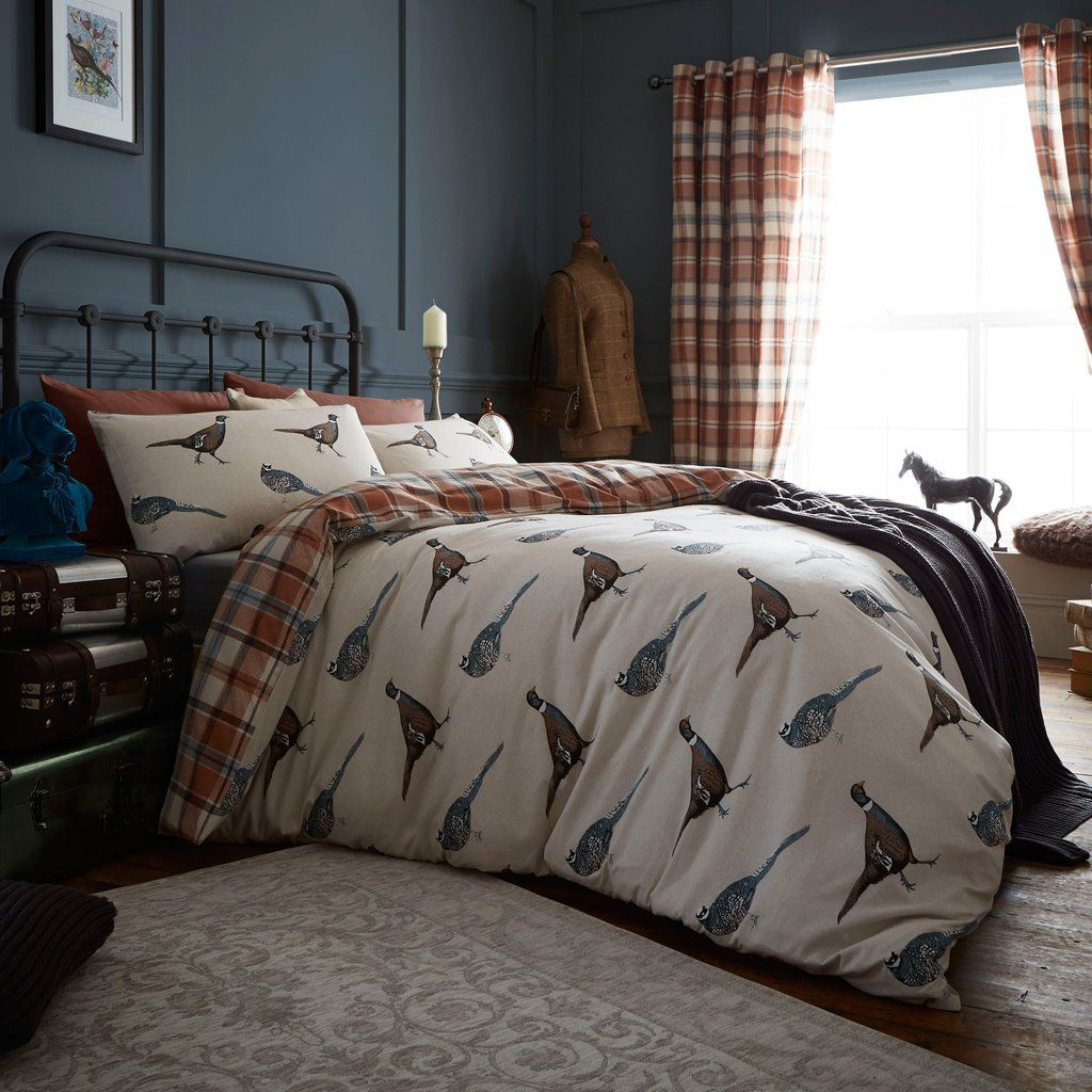 Pheasant Print Cotton Blend Bedding – PASX UK