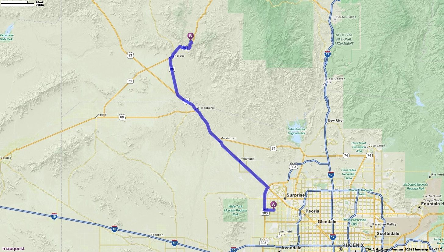 Driving Directions from 12475 N 147th Dr