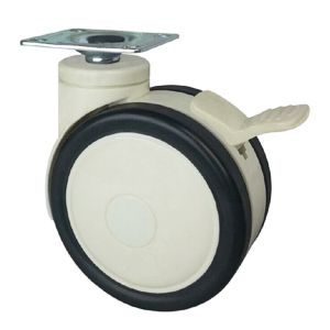 Swivel Dual Wheel Casters Wheel Material Pu Pa Abs Size 3 X 60mm