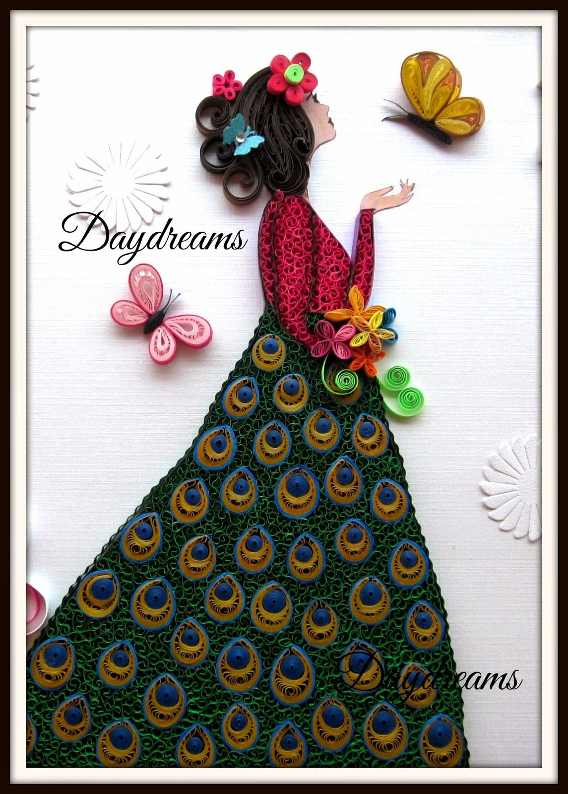 Daydreams framed work quilling pinterest daydream for Paper quilling work