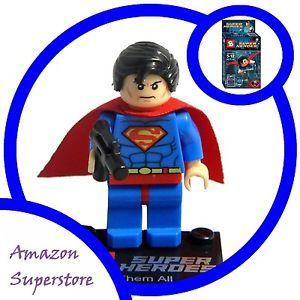 Building Toys Lego Minifigure Superman Marvel Superhero Figure | eBay