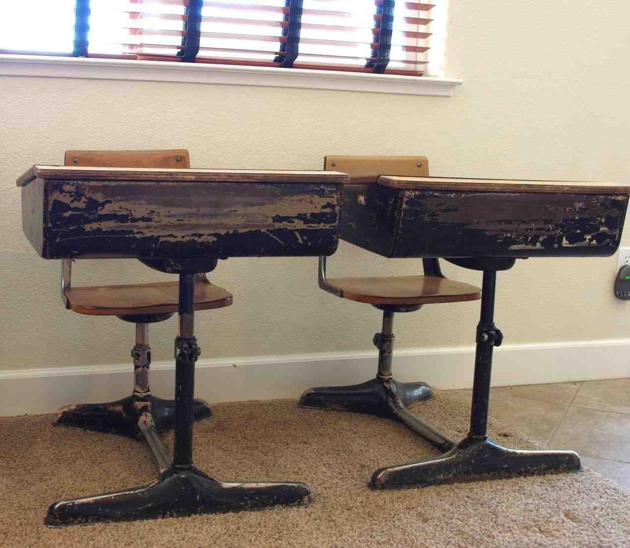 Old fashioned school desks for sale