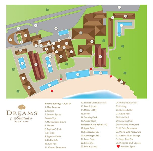 Dreams Huatulco Resort Map Unlimited Vacation Club