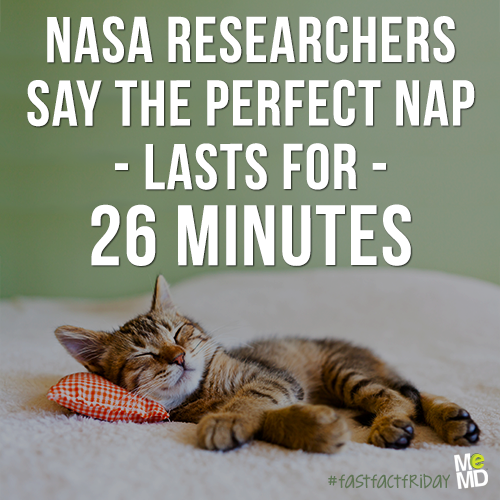 """A NASA study that found a """"26-minute nap improved ..."""
