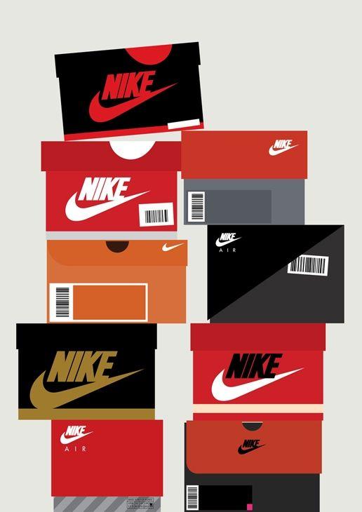 Cálculo Patético Expresión  Flat Design Nike Shoe Boxes | Sneakers wallpaper, Sneakers illustration, Sneakers  box