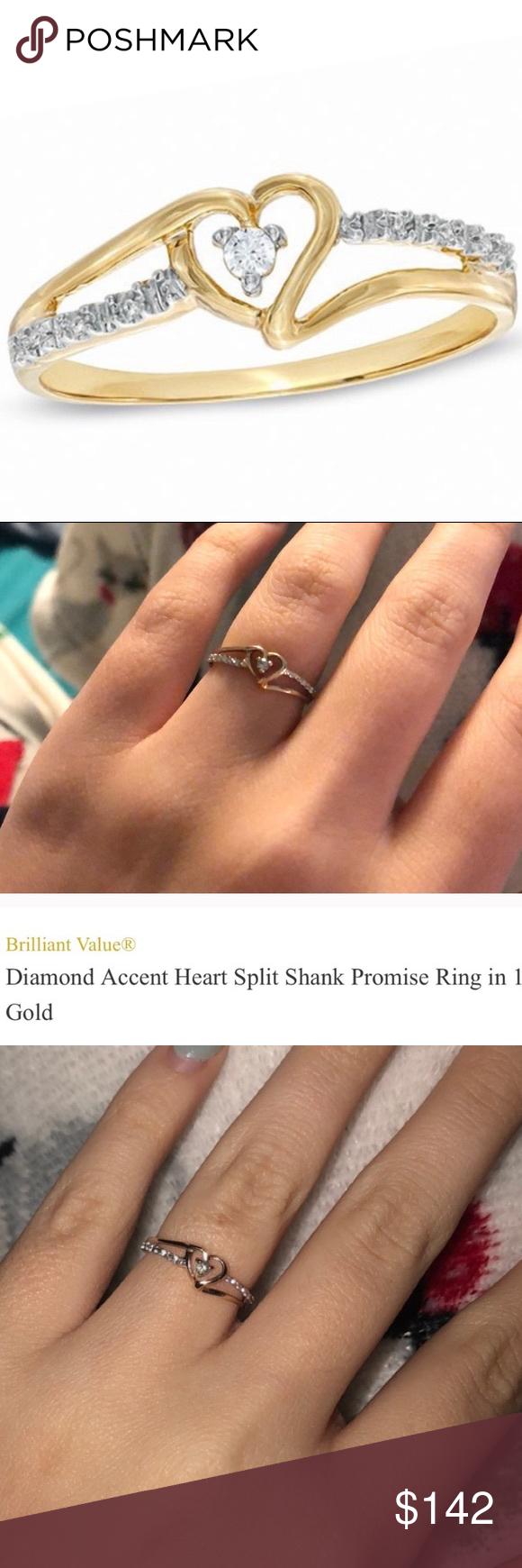 Solid 10k Diamond Ring Diamond Diamond Ring Rings