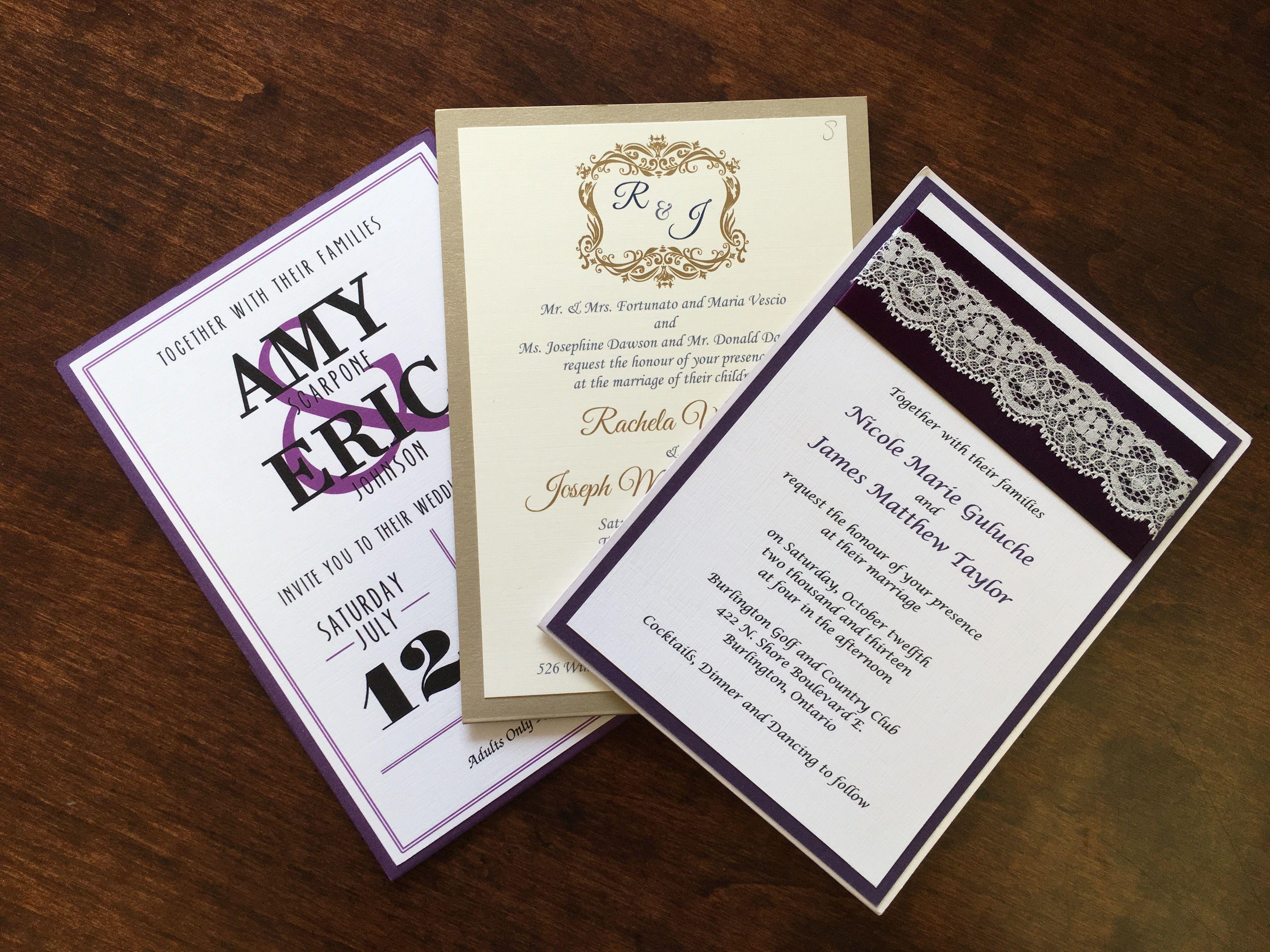 Flat style wedding invitation with back pocket | Wedding Invitations ...