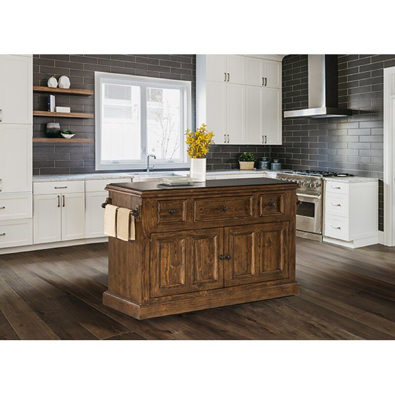 Harris Kitchen Island With Granite Top In 2020 Kitchen Island With Granite Top Granite Tops Wood Kitchen Island