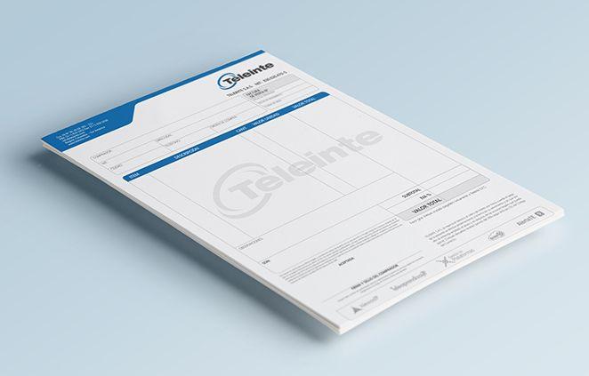 Dise o de factura teleinte branding pinterest dise o for Diseno de facturas