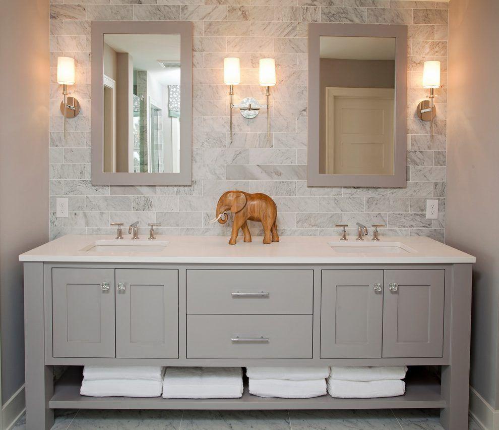 Bathroom Vanities with Sink and Backsplash Bathrooms