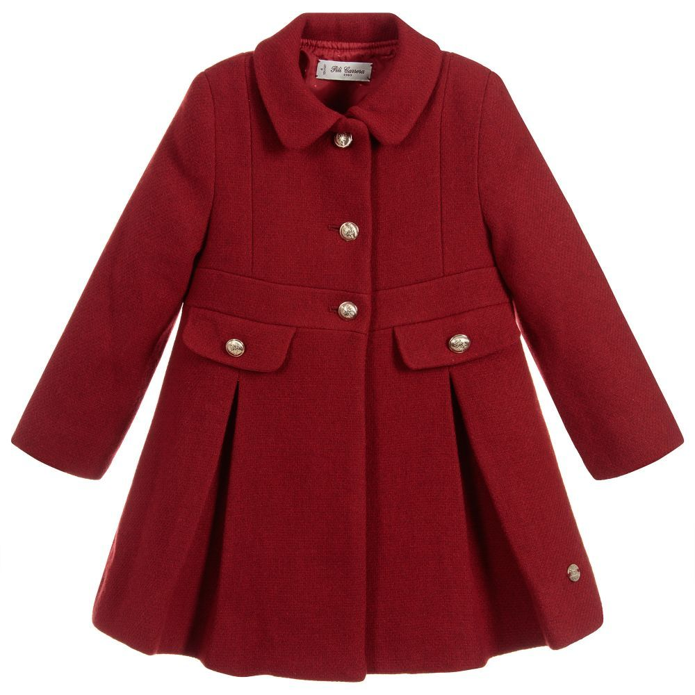 163a684ed Girls Red Wool Coat