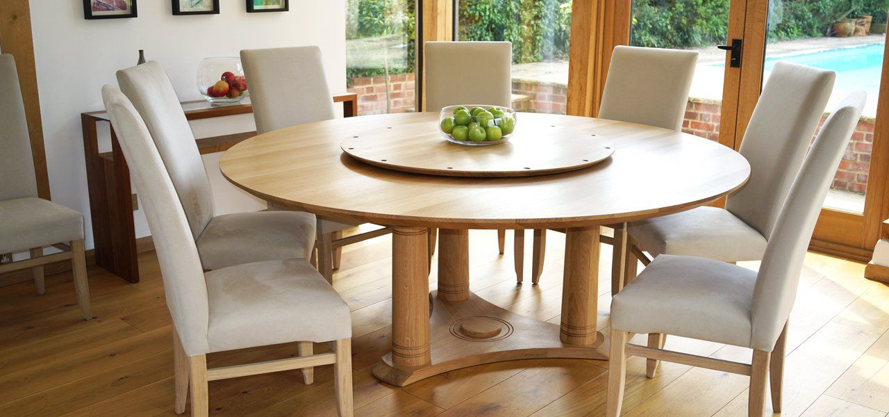Circa 111 Extra Large Round Dining Table In Walnut And Oak Table