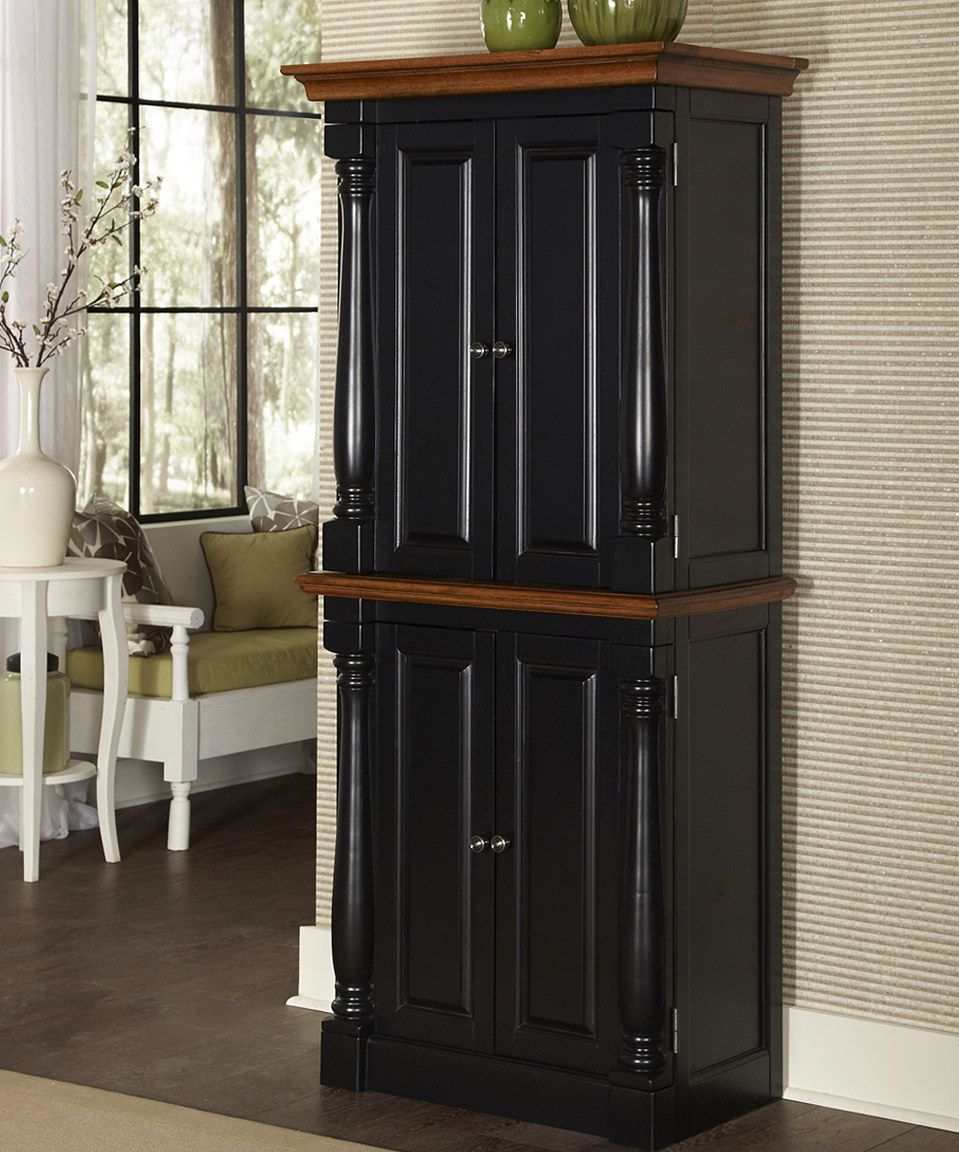 Loving This Black Distressed Oak Monarch Black Oak Pantry On Z Kitchen Standing Cabinet Kitchen Pantry Cabinet Freestanding Free Standing Kitchen Cabinets