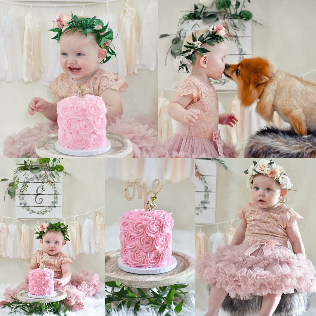 Cake smash photos for 1st birthday.