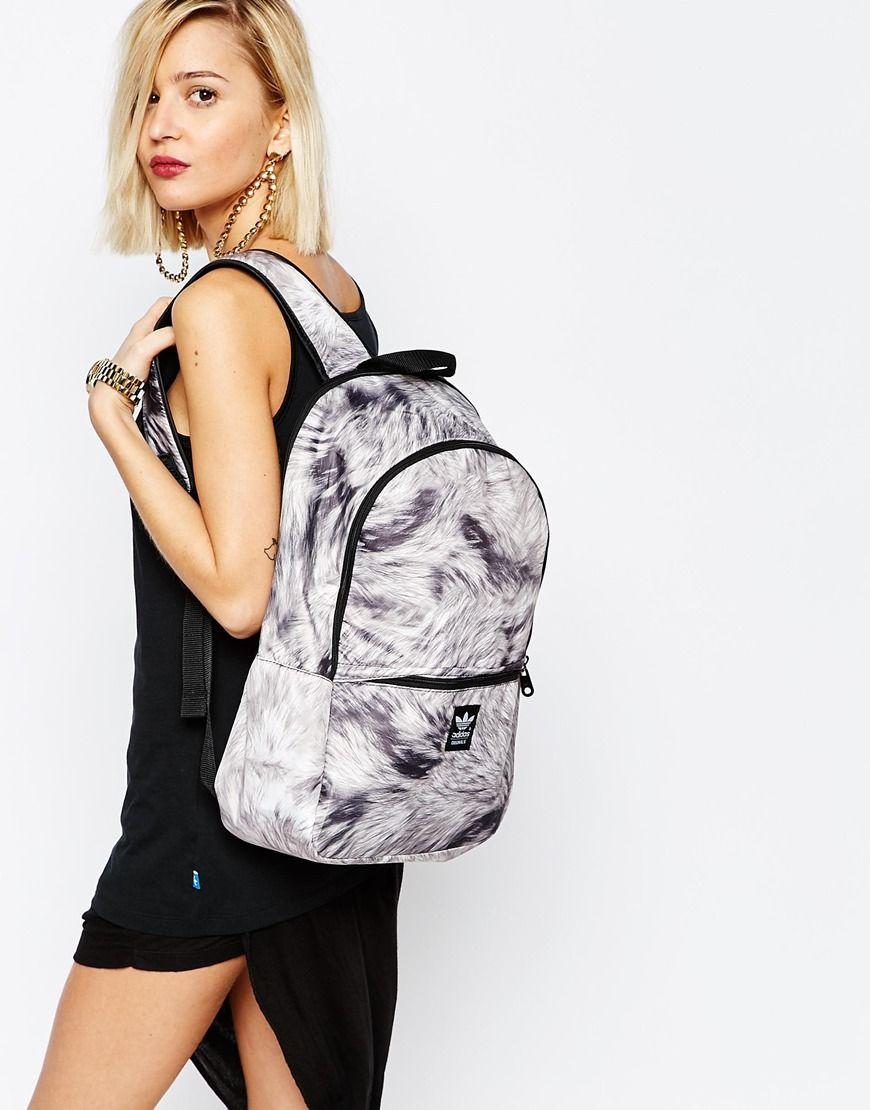 2a7b6c068ffa adidas Originals Backpack in Fur Print