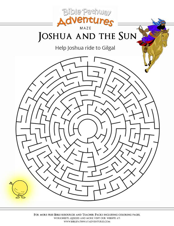 Bible Maze for Kids: Joshua and the Sun   Joshua VBS 2015 ...