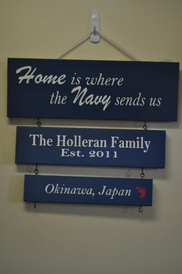 military duty station sign board by craft giraffe www