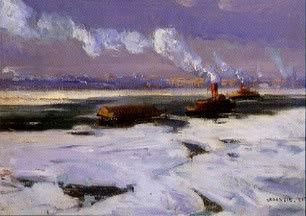 FREEMAN'S - Tug Boats In Icy River