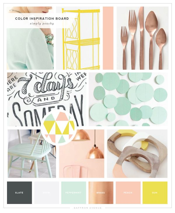 Simply Peachy - Logo and Blog Design - Saffron Avenue