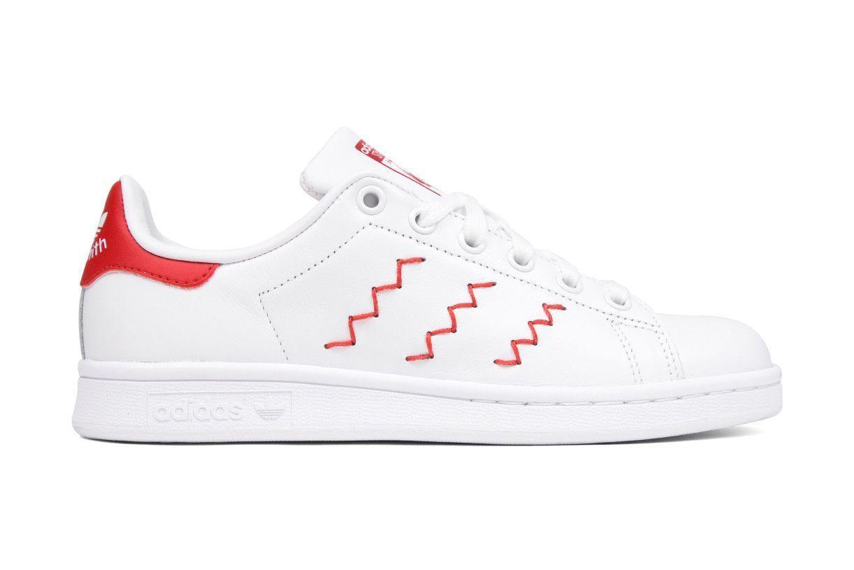 Adidas Originals Womens Stan Smith Zig-Zag - White/Red | Adidas ...