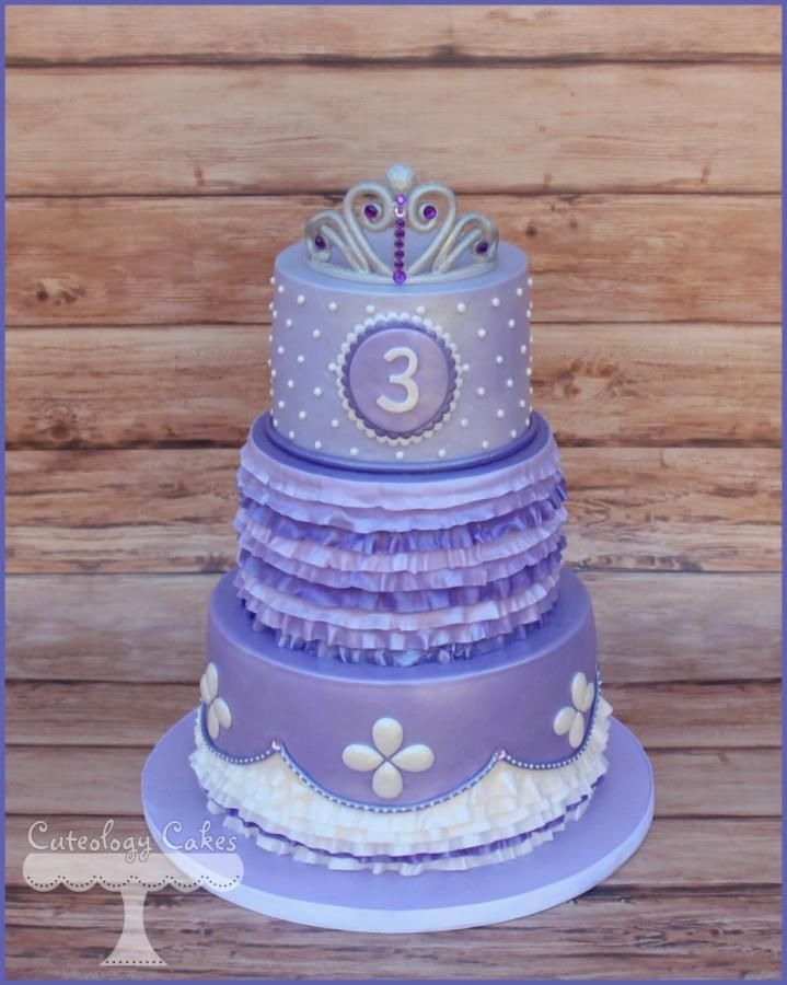 Sofia The First Birthday Cake Princesses Tiaras Princess Party