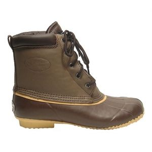 Mens Superior 5-Eye Duck Waterproof Boots Brown Leather - ONLY $59.95