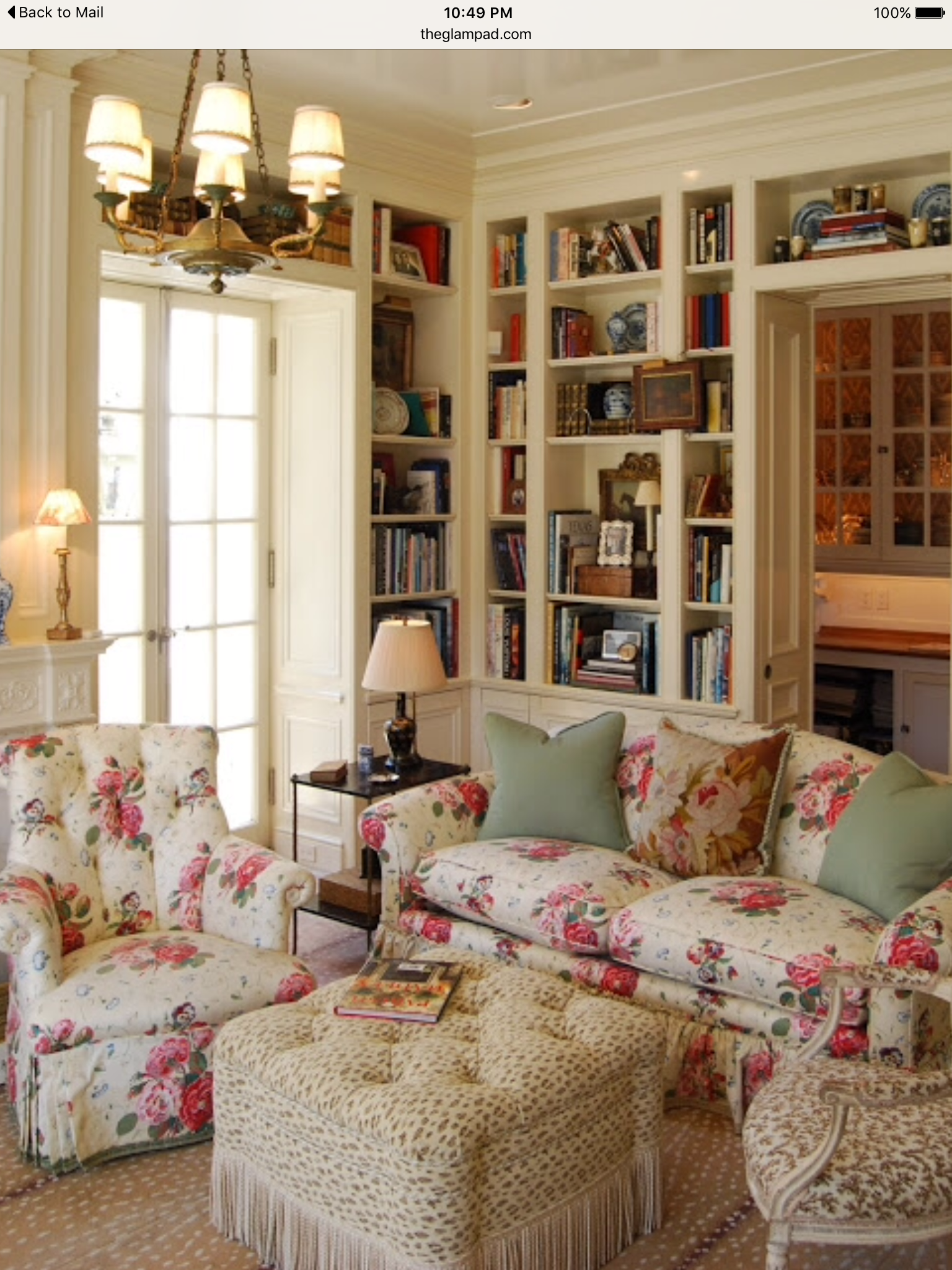 Pin By Marlene Stephenson On Libraries Cottage Style Living Room