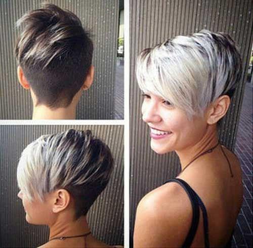 Short Blonde Pixie Crop