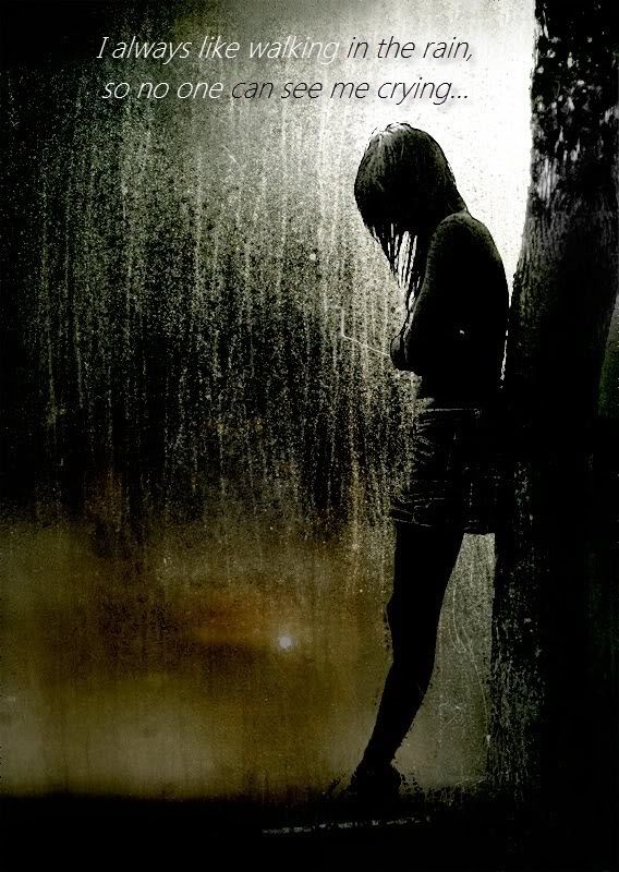 I Always Like Walking In The Rain So No One Can See Me Crying Words Inspirational Quotes Quotable Quotes