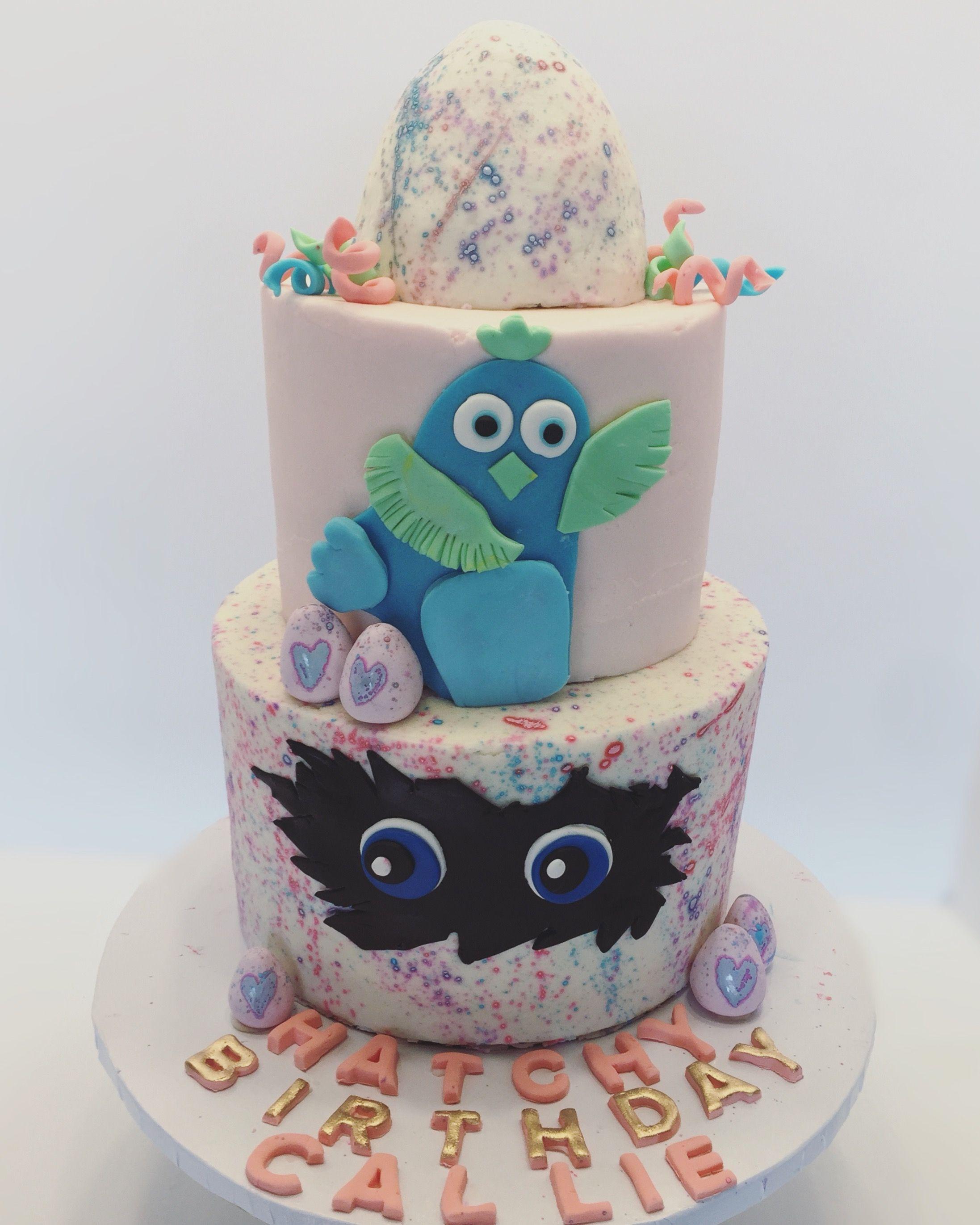 Hatchimal theme birthday cake hatchey birthday with