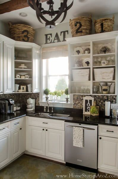 80 Ways To Decorate A Small Kitchen Shutterfly Ku00fcchenschru00e4nke Oben Ku00fcchen Inspiration Ku00fcchenumbau