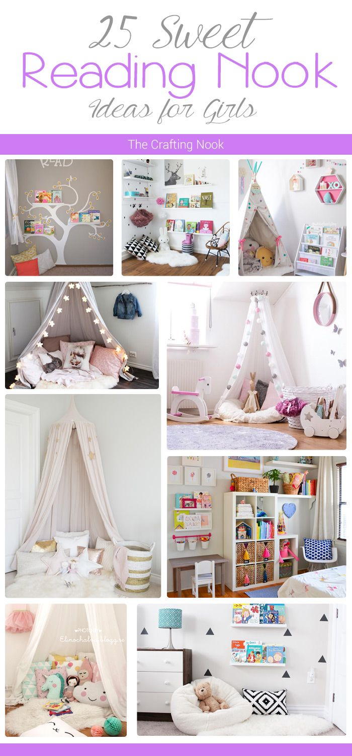 25 Sweet Reading Nook Ideas for Girls | Nook ideas, Reading nooks ...
