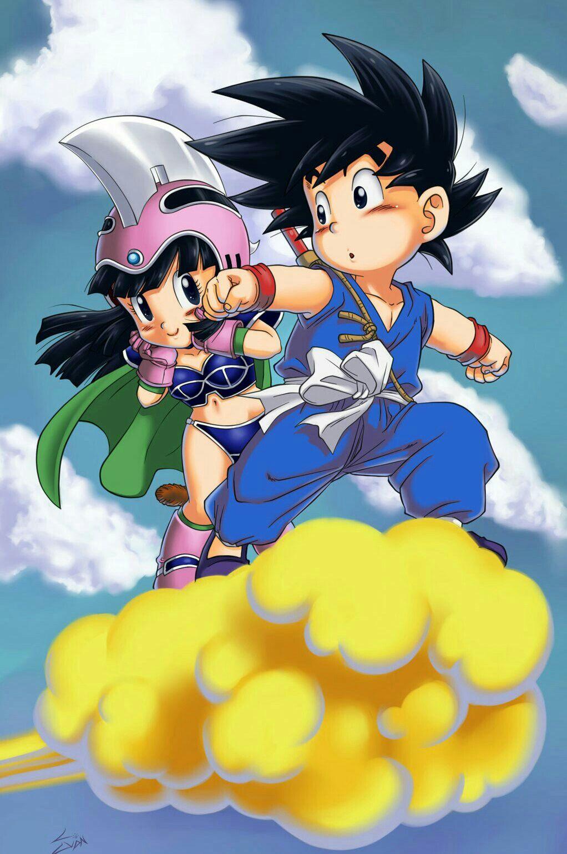 Goku and chichi dragon ball dragon ball dragon ball gt e goku - Petit sangoku ...