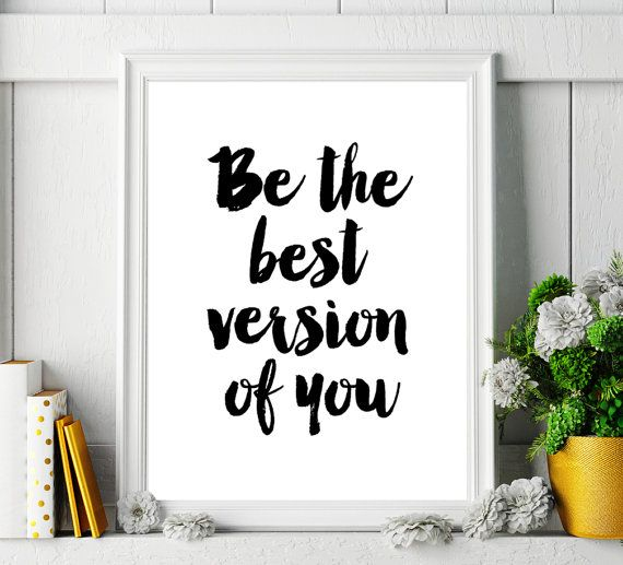 Printable Typography Motivational Quote 'Be The Best