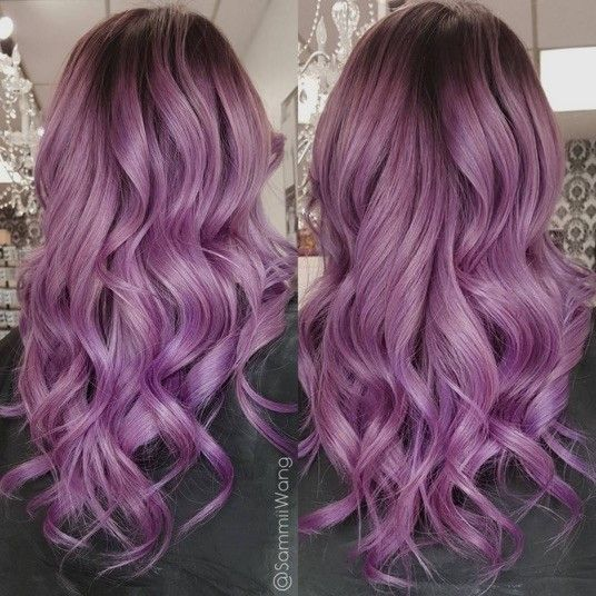 Haare lila braun