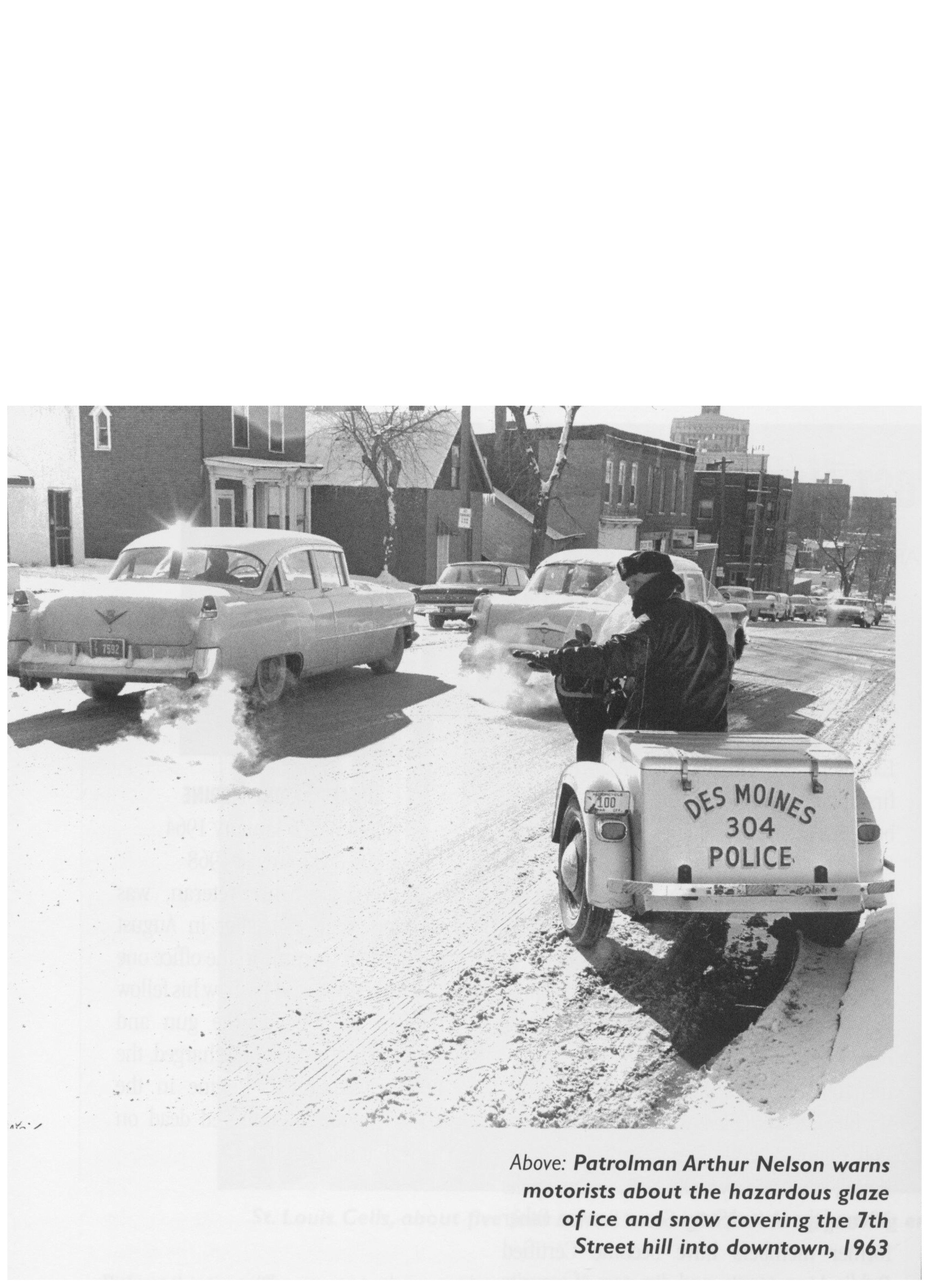 Des Moines Police Motorcycle patrolman, 1963