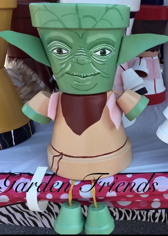 small flower pot people free ship star wars decoration planter pot by gardenfriendsnj