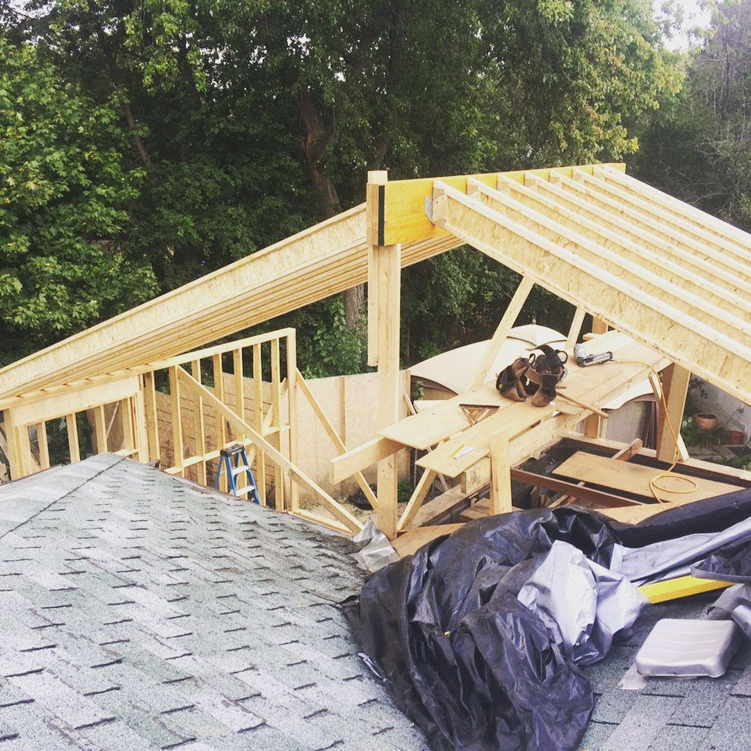Matttfullerwe Began Framing This Tji Rafter Roof Over A