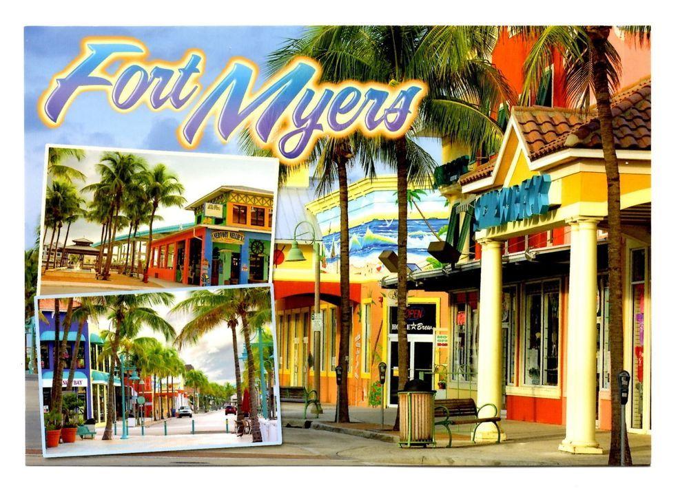 Fort Myers Florida Postcard New Beaches