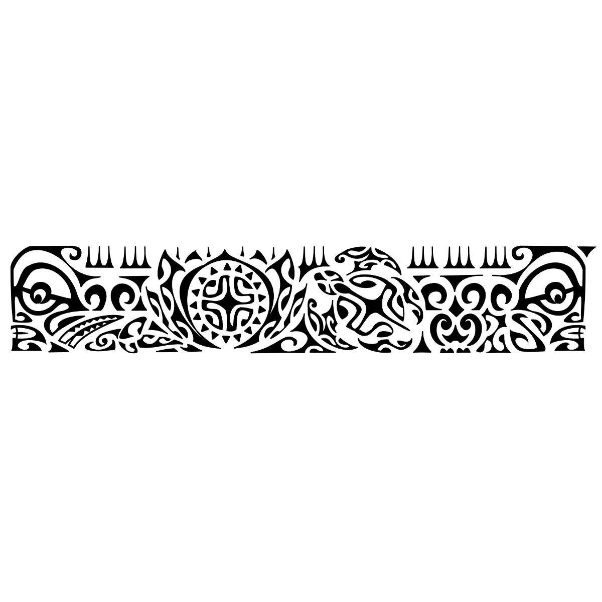 Aio - Pace, stabilità  I due tiki ai lati controllano ogni direzione e proteggono il tatuato e la sua famiglia (la tartaruga).  Il fio...