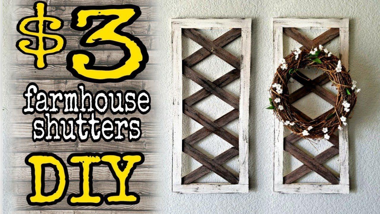Diy dollar decor farmhouse shutters youtube diy