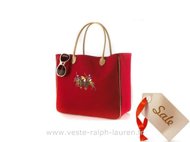 boutique Officielle Ralph Lauren sac mode sacoche loisir three pony red Sacs  à Main Ralph Lauren