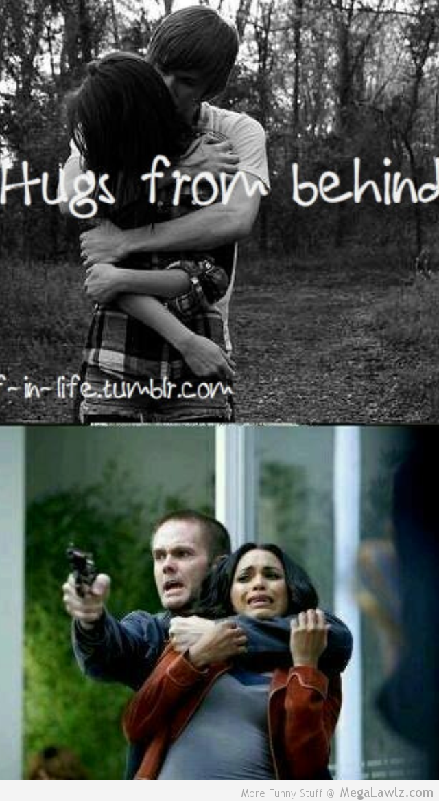 Hugs from behind