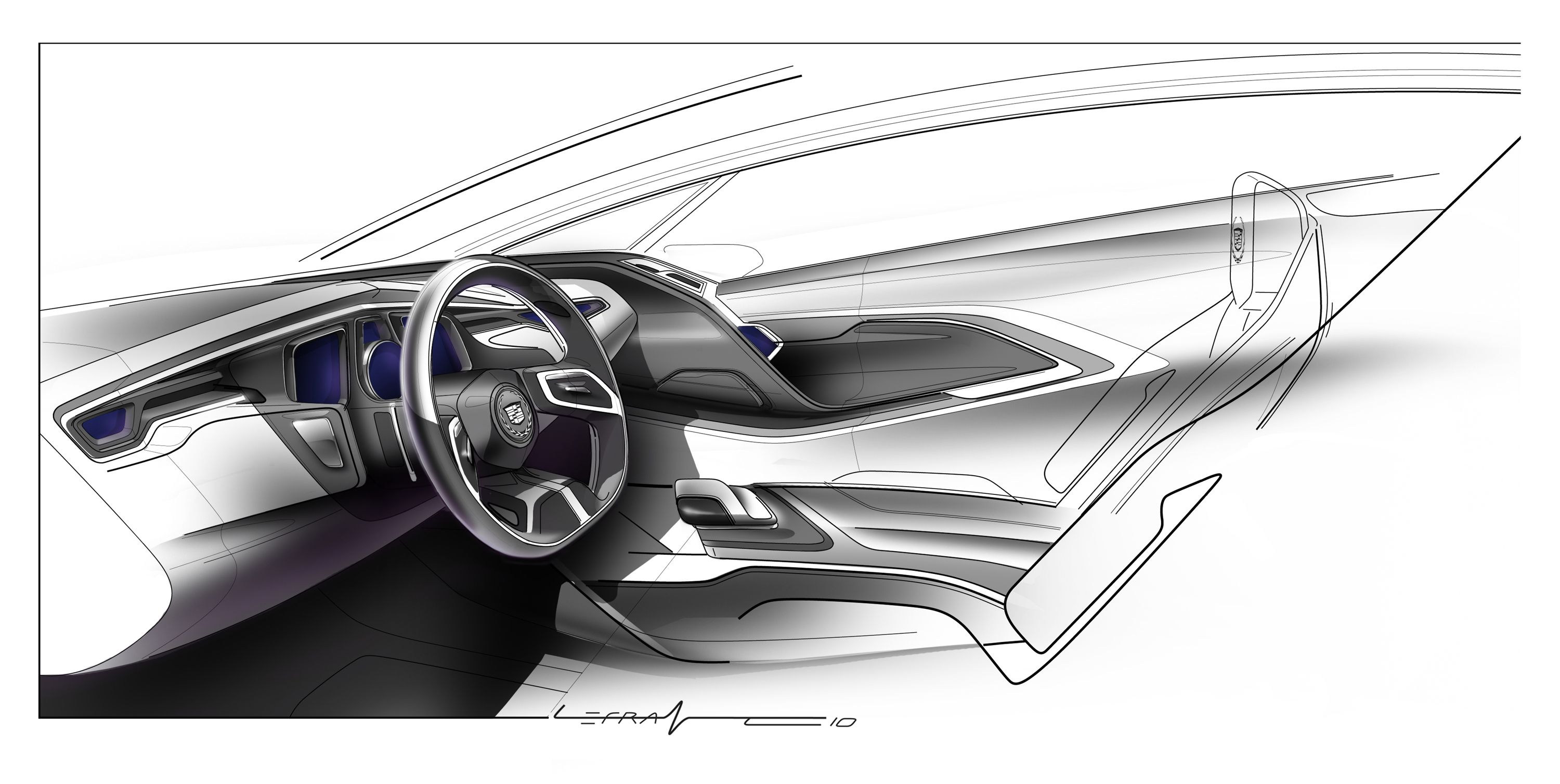 Cadillac Interior Sketch Sketchpiration Pinterest Interior