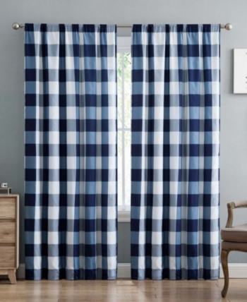 Truly Soft Everyday Buffalo Plaid Window Panel Pair Set Buffalo