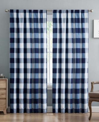 Truly Soft Everyday Buffalo Plaid Window Panel Pair Set Buffalo Plaid Curtains Plaid Curtains Home Decor